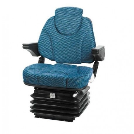 Fotel z amortyzacją mechaniczną AMA SEAT niebieski traktor 80-100HP