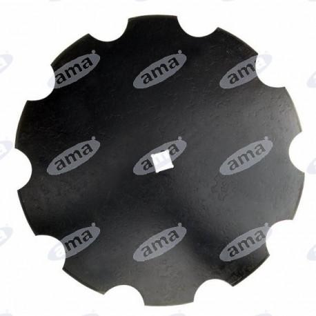 Talerz walcowany, zębaty 460 mm, otwór 31 mm, grubość 3 mm