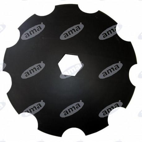Talerz do brony, zębaty 510 mm, otwór 67 mm, grubość 3,5 mm