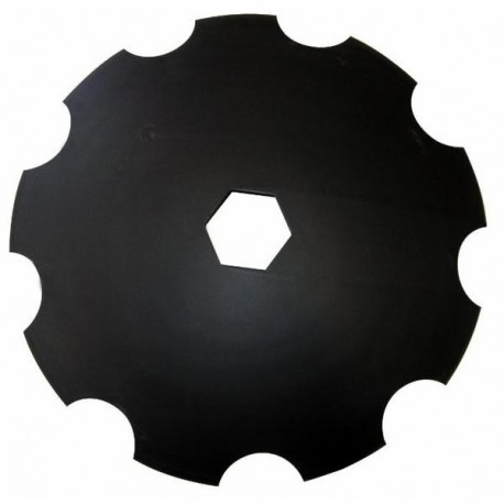 Talerz do brony, zębaty 610 mm, otwór 92 mm, grubość 5 mm