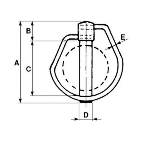 Zawleczka rurowa 11 mm