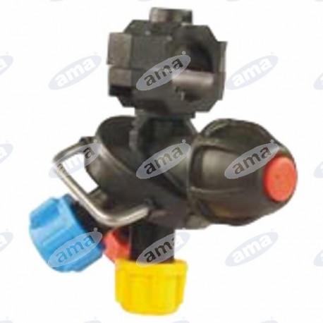 Potrójne mocowanie dysz 1/2''/7mm