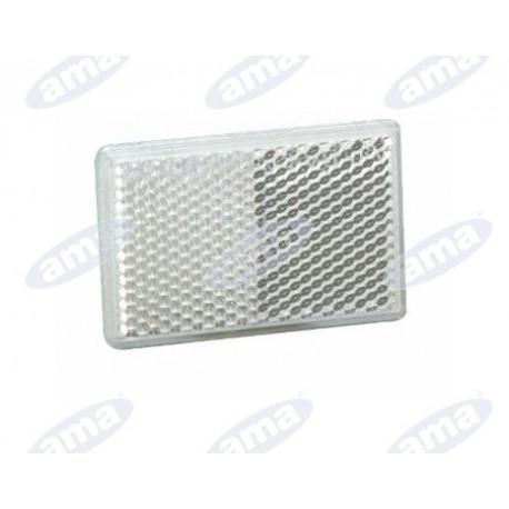 Odblaskowa naklejka biała 105x48