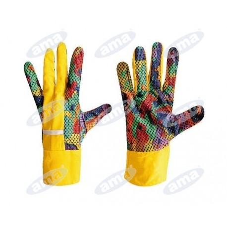 Bawełniane rękawice ogrodowe, kobiece