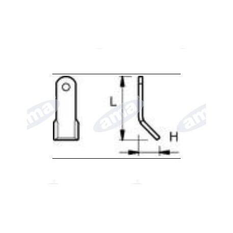 Nóż Y otwór 14,5, 80x35x5, 63-AGM-21