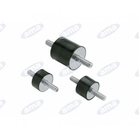 Amortyzator gumowy męski/męski typ A, Fi 25x20 mm, M8x20 mm, walcowy