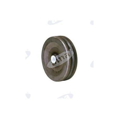Stalowe koło 225x60mm z nylonowym pierścieniem