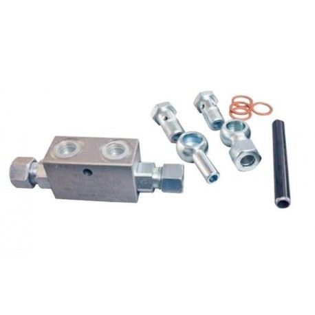 Kompletny zawór podwójny do hydraulicznych łączników centralnych, 220mm