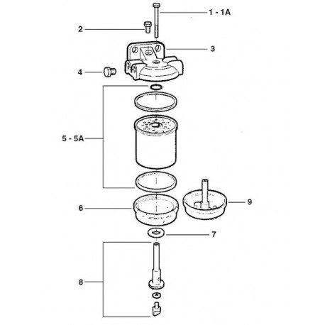 Odstojnik aluminiowy filtra paliwa typu CAV - CAV, FIAT, PERKINS