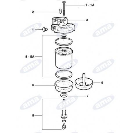Śruba blokująca korpus filtra