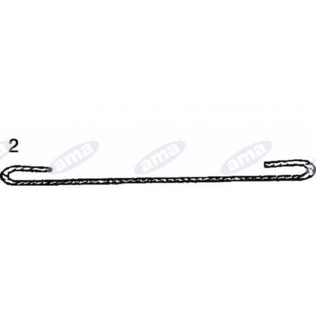 Pręt stalowy do łączenia spinek do pasów, 2,5 X 5mb