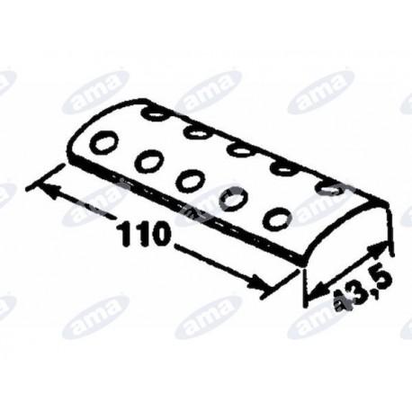 Płytka zewnętrzna do łączenia pasów, 2x5 110x43,5 Gallignani