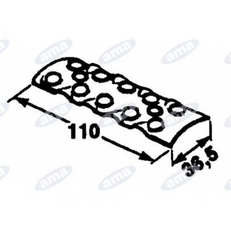 Płytka wewnętrzna do łączenia pasów, 2x5 otworów, wymiar: 110x36,5