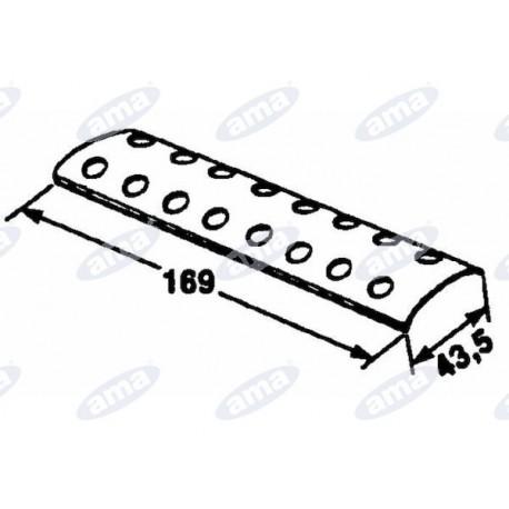 Płytka zewnętrzna do łączenia pasów, 2x8 169x43,5 Gallignani