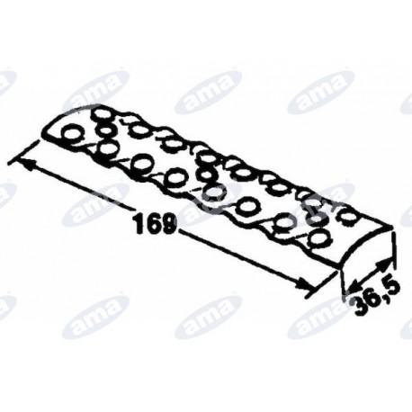 Płytka wewnętrzna do łączenia pasów, 2x8 169x36,5 gallignani