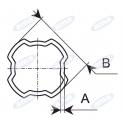 Rura profilowa czwrorokątna Bondioli & Pavesi zewnętrza SFT H8,S9, 66x3,5 mm L=3000 mm