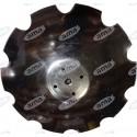 Talerz do agregatu talerzowego, zębaty 580 mm, 4 otworowy, grubość 5 mm, PÖTTINGER TERRADISC zamiennik