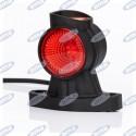 Lampa prawa obrysowa biało-pomaraczowo-czerwona LED 12-36V