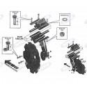 Zestaw kompletny: talerz 510 mm i słupica, tylny