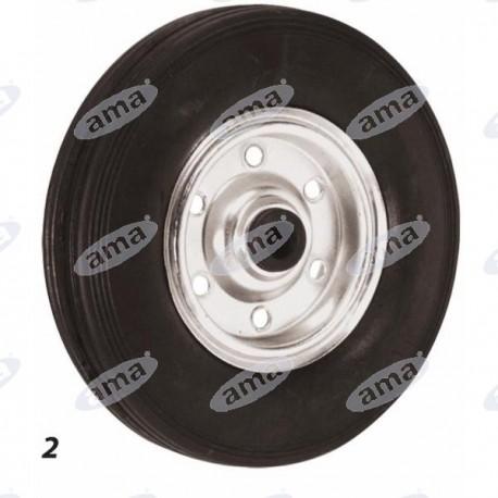 Koło stalowe ogumione 260x50 mm